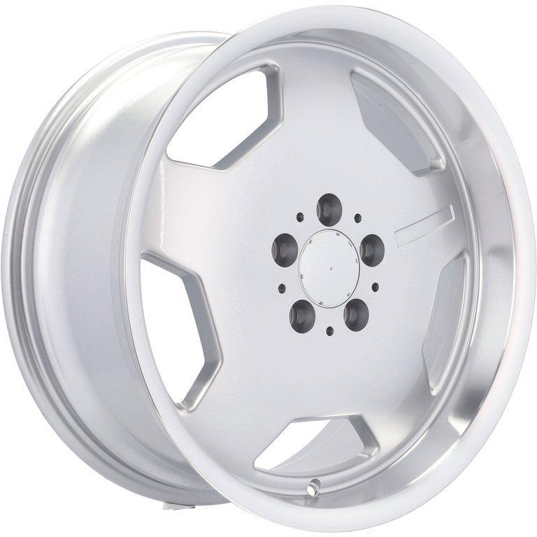 RACING LINE RBY1048 (BK836) hliníkové disky 9x17 5x112 ET30 SILP - Silver + polished lip