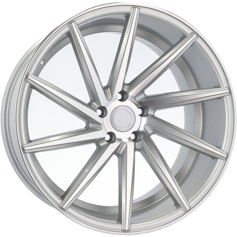 RACING LINE BY1058 hliníkové disky 9,5x19 5x120 ET20 MS - Polished Silver