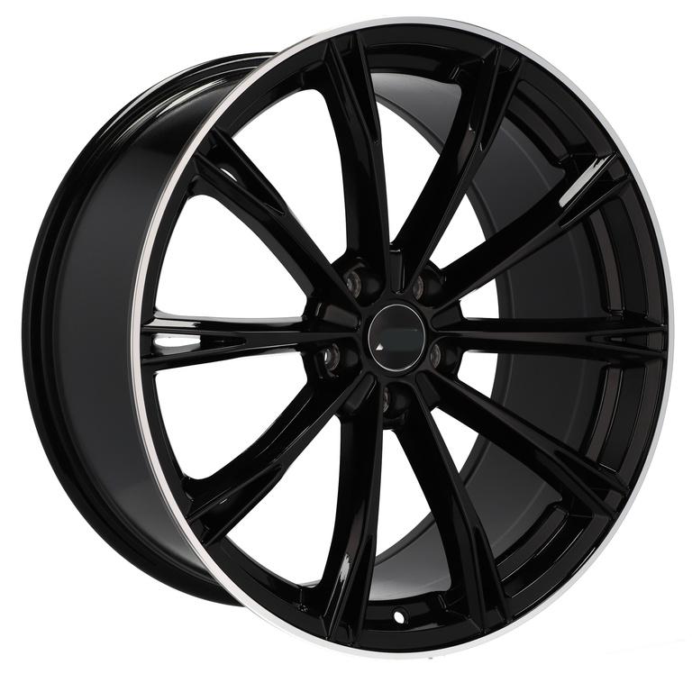 RACING LINE RHE5060 hliníkové disky 9,5x22 5x112 ET31 BLP - Black + polished